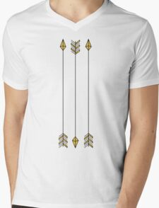 gold arrows Mens V-Neck T-Shirt