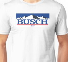 busch, buschlight, beer, drink, thin, mountain. Unisex T-Shirt