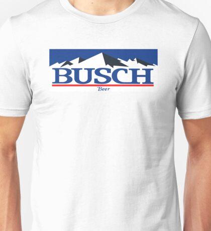 busch, buschlight, beer, drink, thin, mountain. Unisex T-Shirt