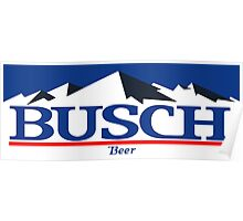 busch, buschlight, beer, drink, thin, mountain. Poster