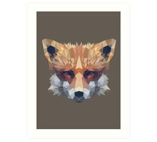 Low Poly Fox Head Art Print