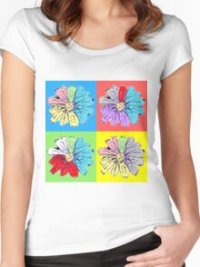 Flowers Women's Fitted Scoop T-Shirt