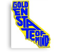 Golden State of Mind Yellow/Blue Canvas Print
