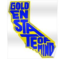 Golden State of Mind Yellow/Blue Poster