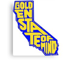 Golden State of Mind Blue/Yellow Canvas Print