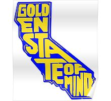 Golden State of Mind Blue/Yellow Poster