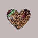 Wooden Heart Love Wins by Casey Virata