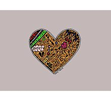 Wooden Heart Love Wins Photographic Print