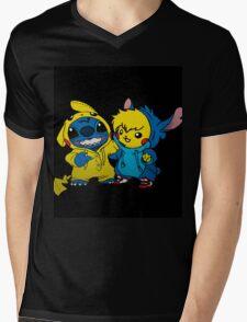 pika&stitch  Mens V-Neck T-Shirt