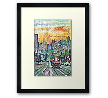 San Francisco Sunset, California Picture Framed Print
