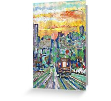 San Francisco Sunset, California Picture Greeting Card