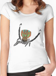 Peacock Spider Women's Fitted Scoop T-Shirt