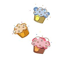 Cute muffins Photographic Print