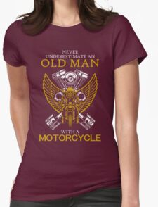 Never Underestimate An Old Man With A Motorcycle T-Shirt