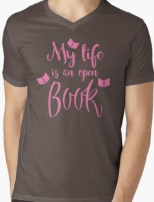 My life is an open book Mens V-Neck T-Shirt