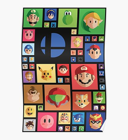 Super Smash bros 4 Poster