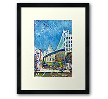 San Francisco Picture, Bay Bridge Cityscape Framed Print