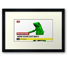 HERE COME DAT BOI Framed Print