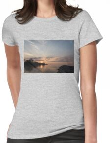 Heavenly Sunrays - Pink Sunshine Through the Clouds Womens Fitted T-Shirt