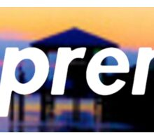 Supreme Beach Logo Sticker