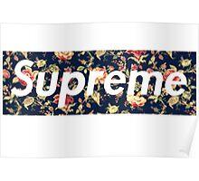 Supreme Flower Logo Poster