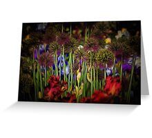 Purple And Red Heaven! Greeting Card