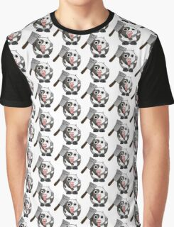 Cow Chop Knife Graphic T-Shirt