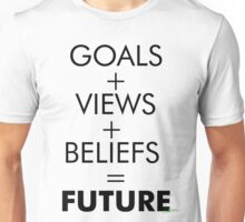 GOALS, VIEWS, BELIEFS Unisex T-Shirt
