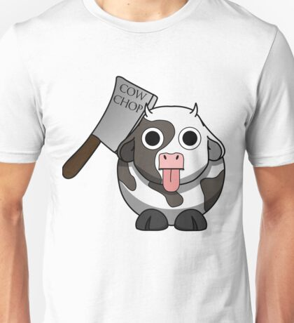 Cow Chop Knife Unisex T-Shirt