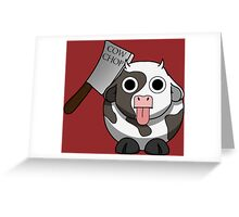 Cow Chop Knife BG Greeting Card