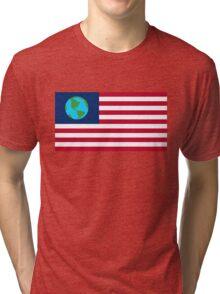 Earthican Flag Tri-blend T-Shirt