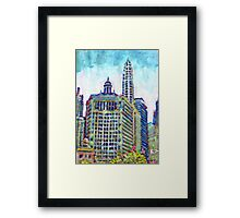Chicago Picture, Spring The City Framed Print