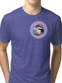 Tongue Tied (Blue Red) Tri-blend T-Shirt