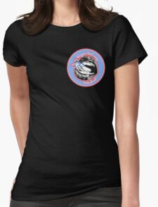Tongue Tied (Blue Red) Womens Fitted T-Shirt