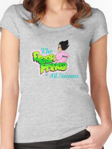 The Fresh Prince of All Saiyans  Women's Fitted Scoop T-Shirt