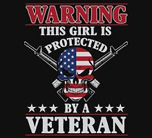 This Girl Is Protected By A Veteran Women's Fitted Scoop T-Shirt