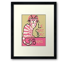 Le Chat Sac Framed Print