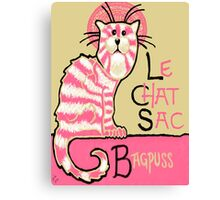 Le Chat Sac Canvas Print
