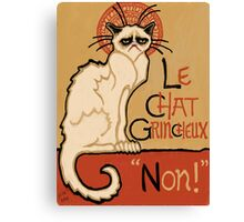 Le Chat Grincheux Canvas Print