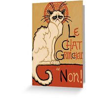 Le Chat Grincheux Greeting Card