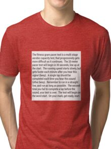 Fitness Gram Pacer Test Tri-blend T-Shirt