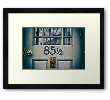 Eighty-Five and a Half Framed Print
