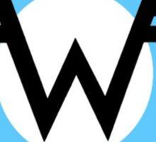 Weezer band logo - Blue Sticker