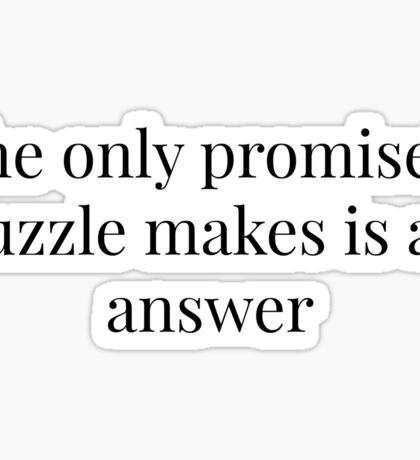 Elementary Puzzle Quote Sticker