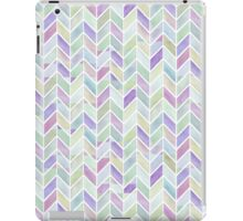 Chevrons in Lavenders & Lime Greens iPad Case/Skin