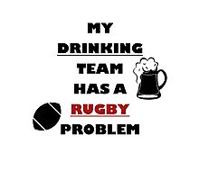 Rugbyplayer's problem Photographic Print