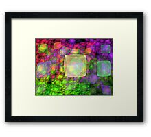 Cube Galaxies Framed Print