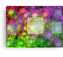 Cube Galaxies Metal Print