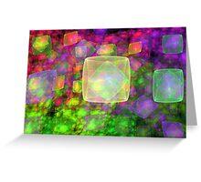 Cube Galaxies Greeting Card