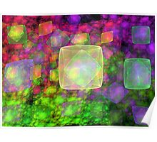 Cube Galaxies Poster
